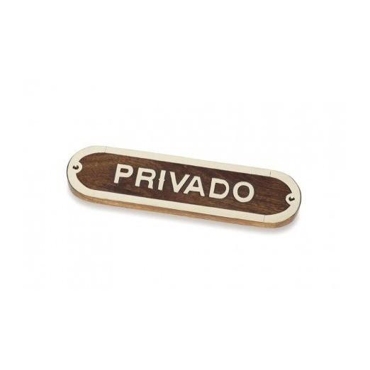 Placa Decorativa Privado