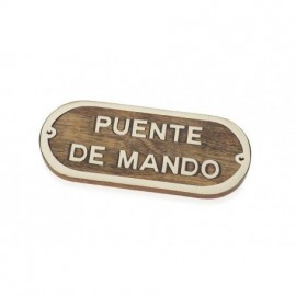 Placa Decorativa Puente Mando (2u)