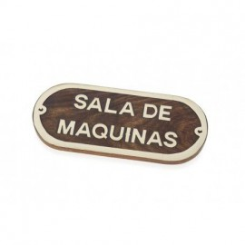 Placa Decorativa Sala Maquinas (2u)