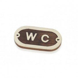 Placa Decorativa WC (2u)
