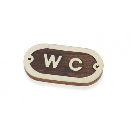 Placa Decorativa WC