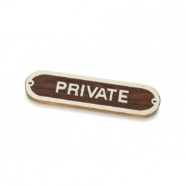 Placa Decorativa Private (2u)