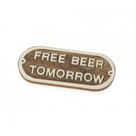 Placa Decorativa Free Beer Tomorrow (2u)