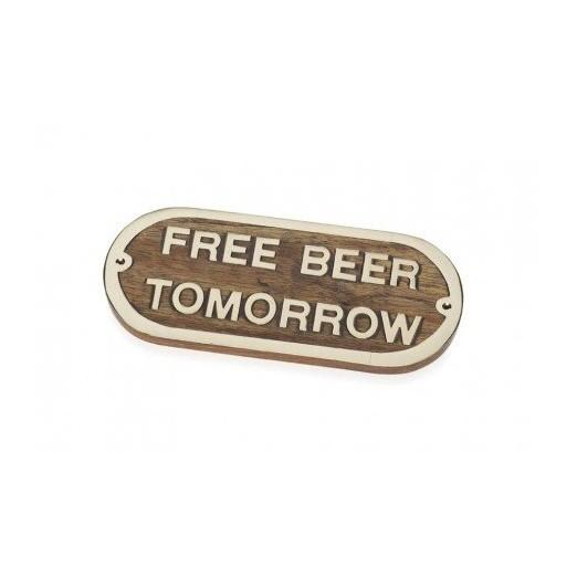 Placa Decorativa Free Beer Tomorrow