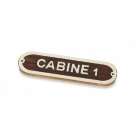 Placa Decorativa Cabine 1 (2u)