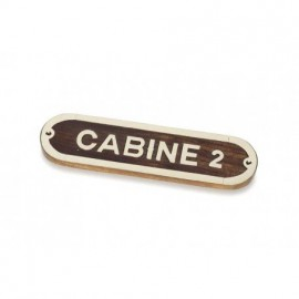 Placa Decorativa Cabine 2 (2u)