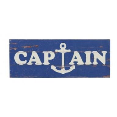 Placa Madera Captain