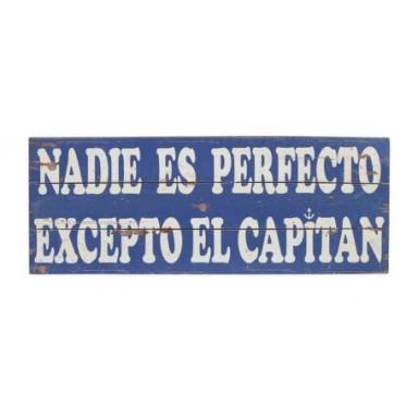 Placa Madera Nadie Perfecto Excepto