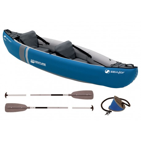 Canoa Hinchable Sevylor Adventure 2P Pack