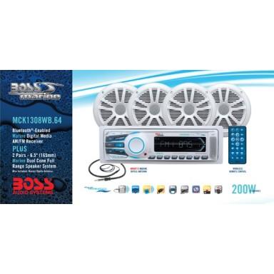 Pack Radio y Dos Pares Altavoces Boss Audio MR1308UAB Bluetooth