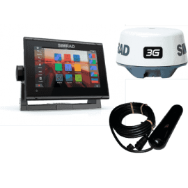 Pack Simrad GO7 XSR GPS Sonda Radar Con Cartografía Navionics+