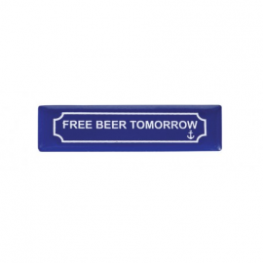Imán Placa Free Beer Tomorrow