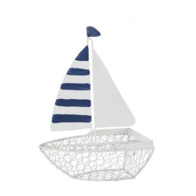 Barco De Metal Decorativo