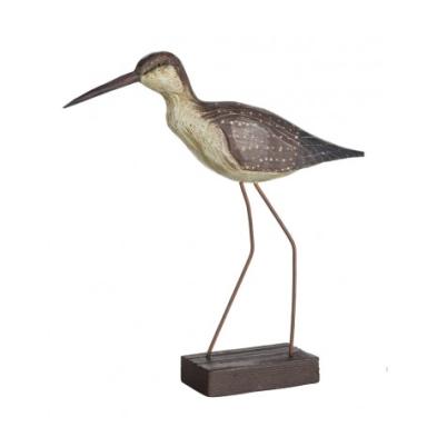 Pájaro Marino Patas Largas Decorativo Madera