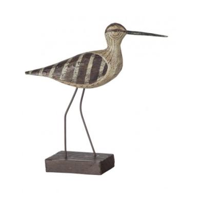Pájaro Marino Pequeño Patas Largas Decorativo Madera