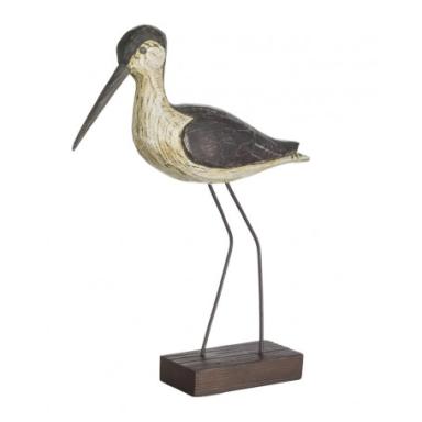 Pájaro Marino Pico Largo Decorativo Madera