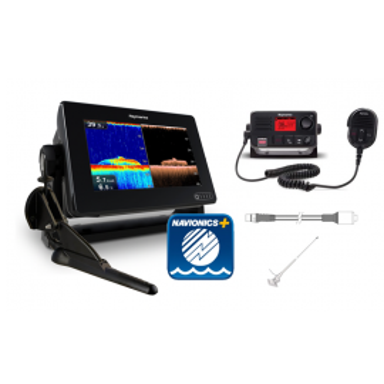 Pack Raymarine Axiom 7 DV + Cartografía + VHF + Antena
