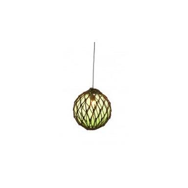 Lámpara Decorativa Bola Verde Cuerda