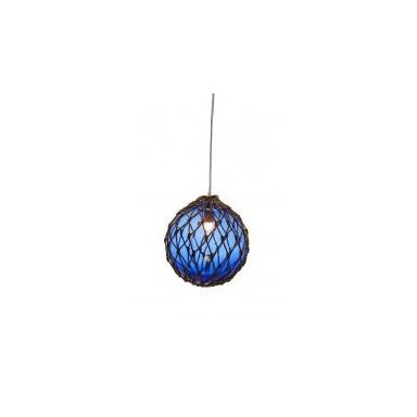 Lámpara Decorativa Bola Azul Cuerda (1u)