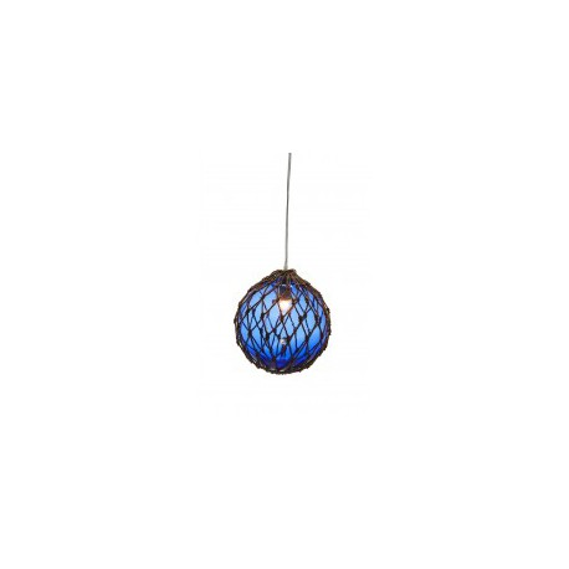 Lámpara Decorativa Bola Azul Cuerda