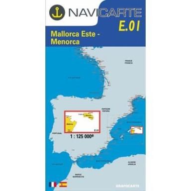 Carta Náutica Navicarte E01 Mallorca Este y Menorca