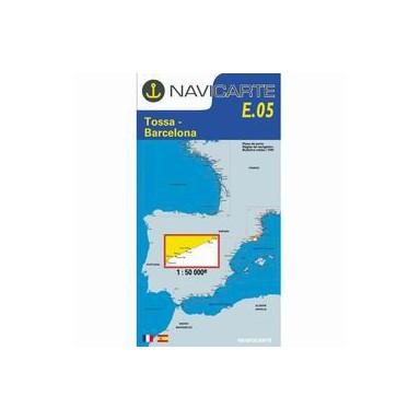 Carta Náutica Navicarte E05 Tossa a Barcelona