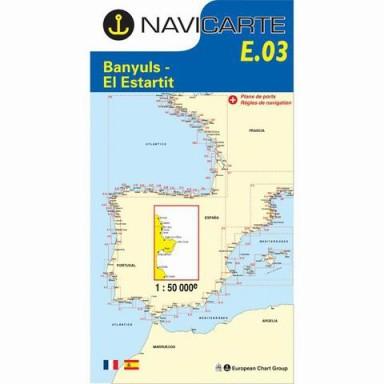 Carta Náutica Navicarte E03 Costa Brava Estartit a Banyuls