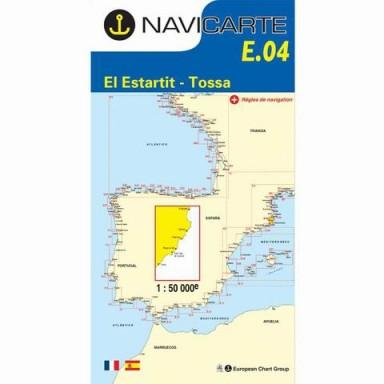 Carta Náutica Navicarte E04 Costa Brava Estartit a Tossa