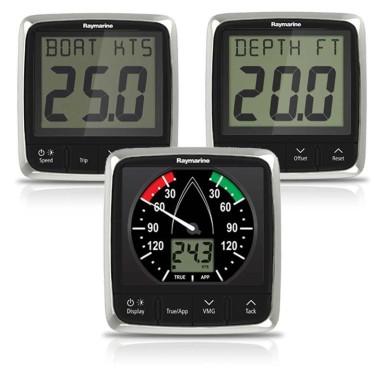 Sistema Tridata Raymarine I50 Profundidad, Corredera, Temperatura