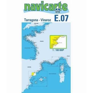 Carta Náutica Navicarte E07 Tarragona a Vinaros