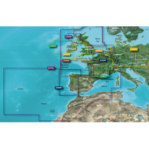 Cartografía Bluechart G3 VISION Regular