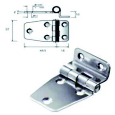 Bisagra Embrague Inox Electropulida 65,5x39x10mm