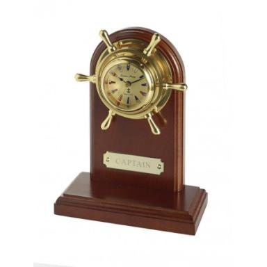 Reloj Náutico Timón Código Señales Base Madera (1u)