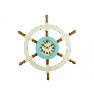 Reloj Rústico Decorativo  Timón (1u)