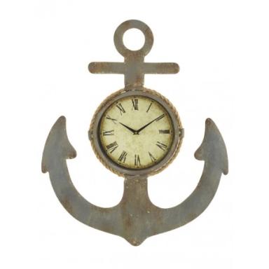 Reloj Rústico Decorativo Ancla (1u)