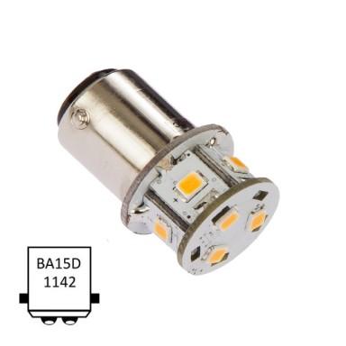 LED Ba15D 9 Leds Blanco Ultra Cálido