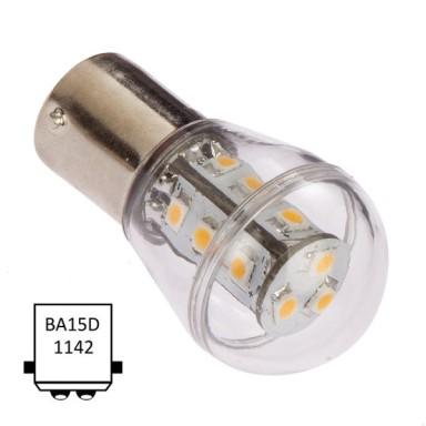 LED Ba15D 15 Leds Blanco Ultra Cálido