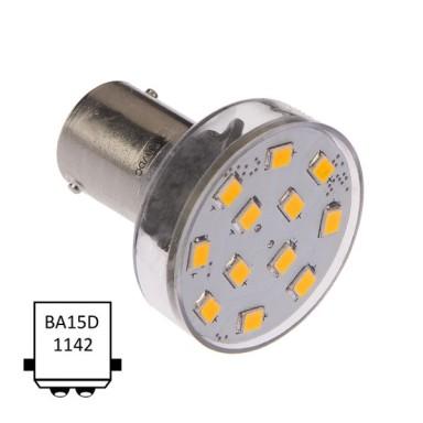 LED Ba15D 12 Leds Blanco Ultra Cálido