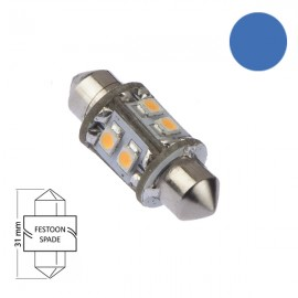 LED Festoon 31 Azul 8 Leds NauticLed