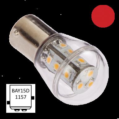 LED Bay15D B75 Rojo NauticLed