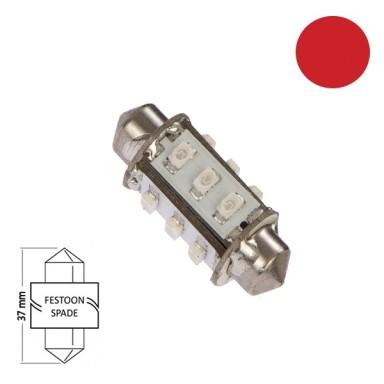 Bombilla Navegación LED Festoon 37mm Roja