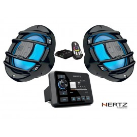 Pack Equipo Música Hertz HMR 20 LED Carbón PowerSport