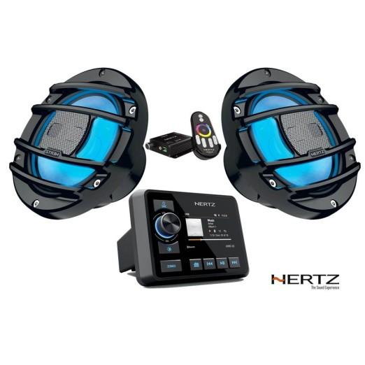 Pack Equipo Música Hertz HMR 20 LED Carbón PowerSport