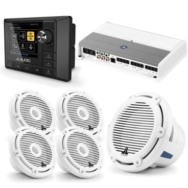Pack Audio JL Audio Mediamaster MM100s Con AMP700-5 Con Altavoces M3-650X y Subwoofer M6-10IB