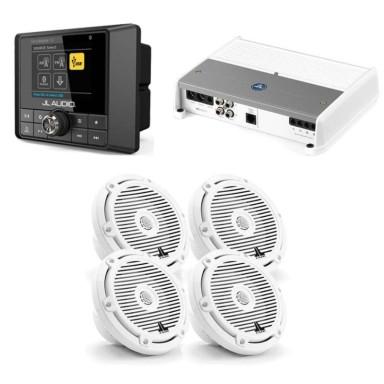 Pack Audio JL Audio Mediamaster MM50 Con AMP400-4 y Altavoces M3-650X