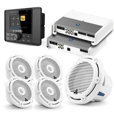 Pack Audio JL Audio Mediamaster MM50 Con AMP600-1 Con Altavoces M3-650X y Subwoofer M6-10IB