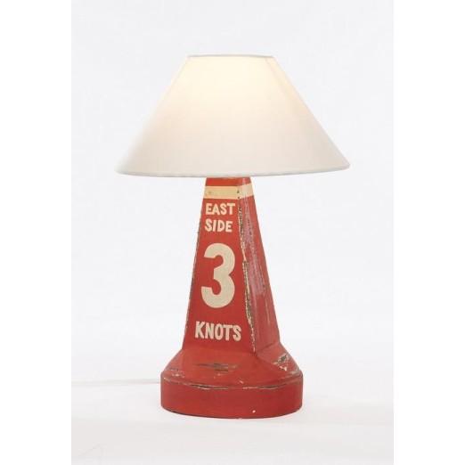 Lámpara Baliza Decoración Náutica Roja