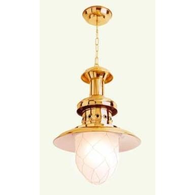 Lámpara Mediana Latón Decoración Náutica (1u)