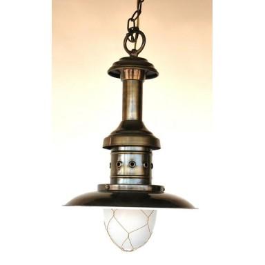 Lámpara Pesca Latón Decoración Náutica