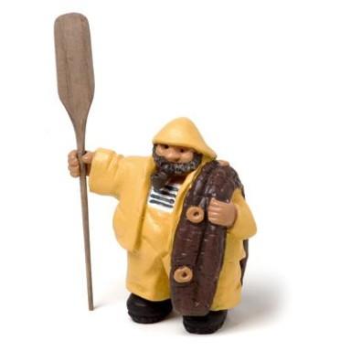 Miniatura Decoración Pescador (2u)